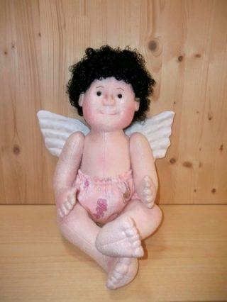 PDF Step by Step Photo Tutorial Bambola di stoffa scolpita ad ago Angel Baby
