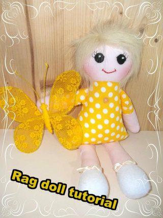 Rag doll sewing patterns & tutorial
