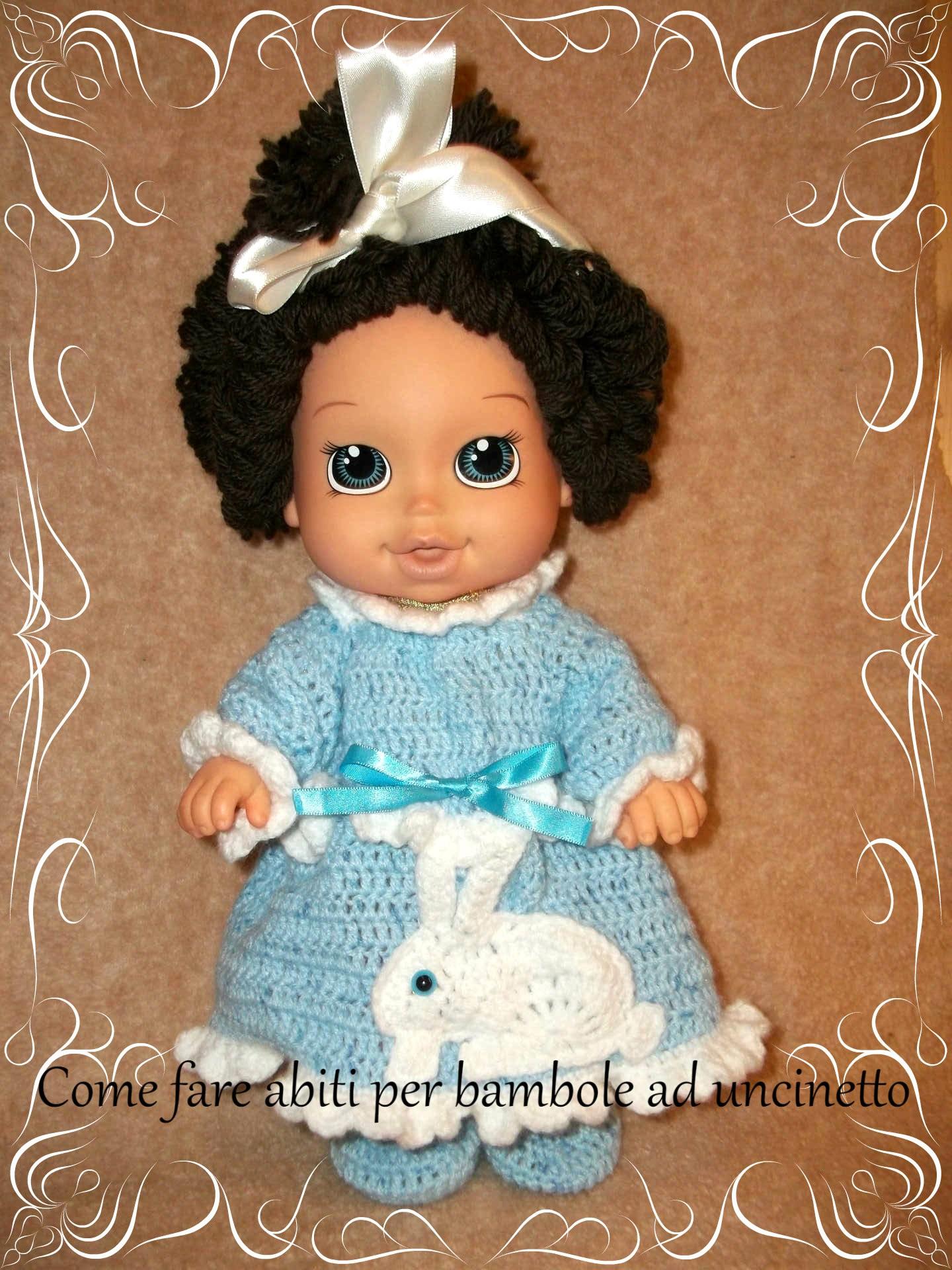 Come Fare Abiti Alluncinetto Per Le Bambole Dollmakingtutorial