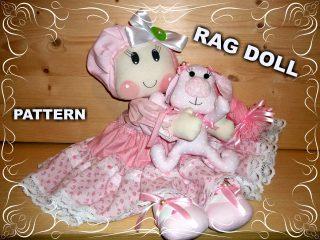 Tutorial e Cartamodello Bambola di pezza e piccolo cane