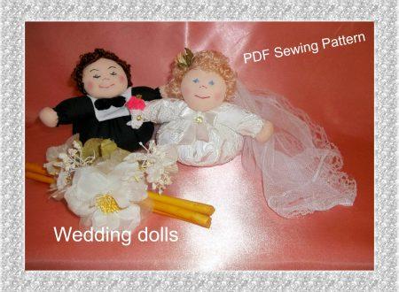 Bambole Sposini Tutorial e Cartamodello