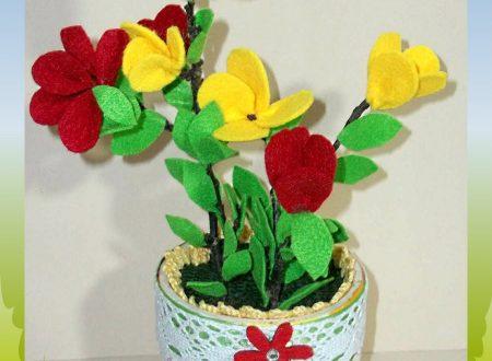 Riciclo creativo con vaso di ceramica