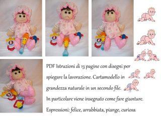 Cartamodello bambola neonata empatica
