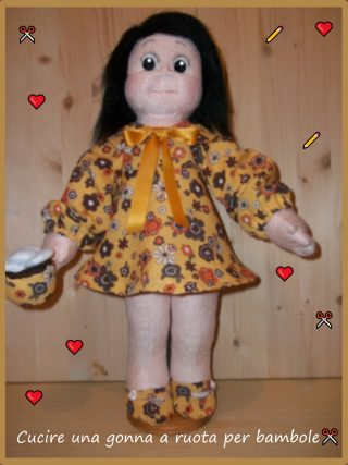 Cucire una gonna a ruota per bambole