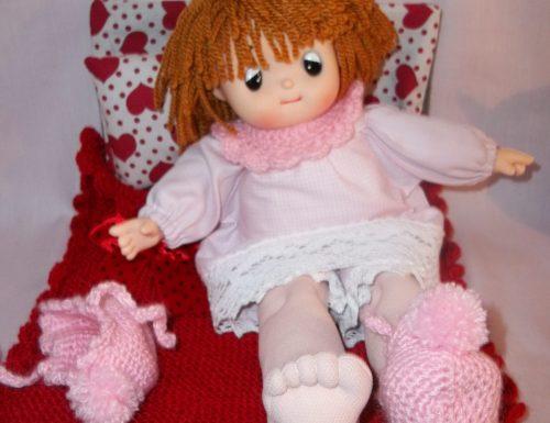 Modello scarpine per bambola ad uncinetto